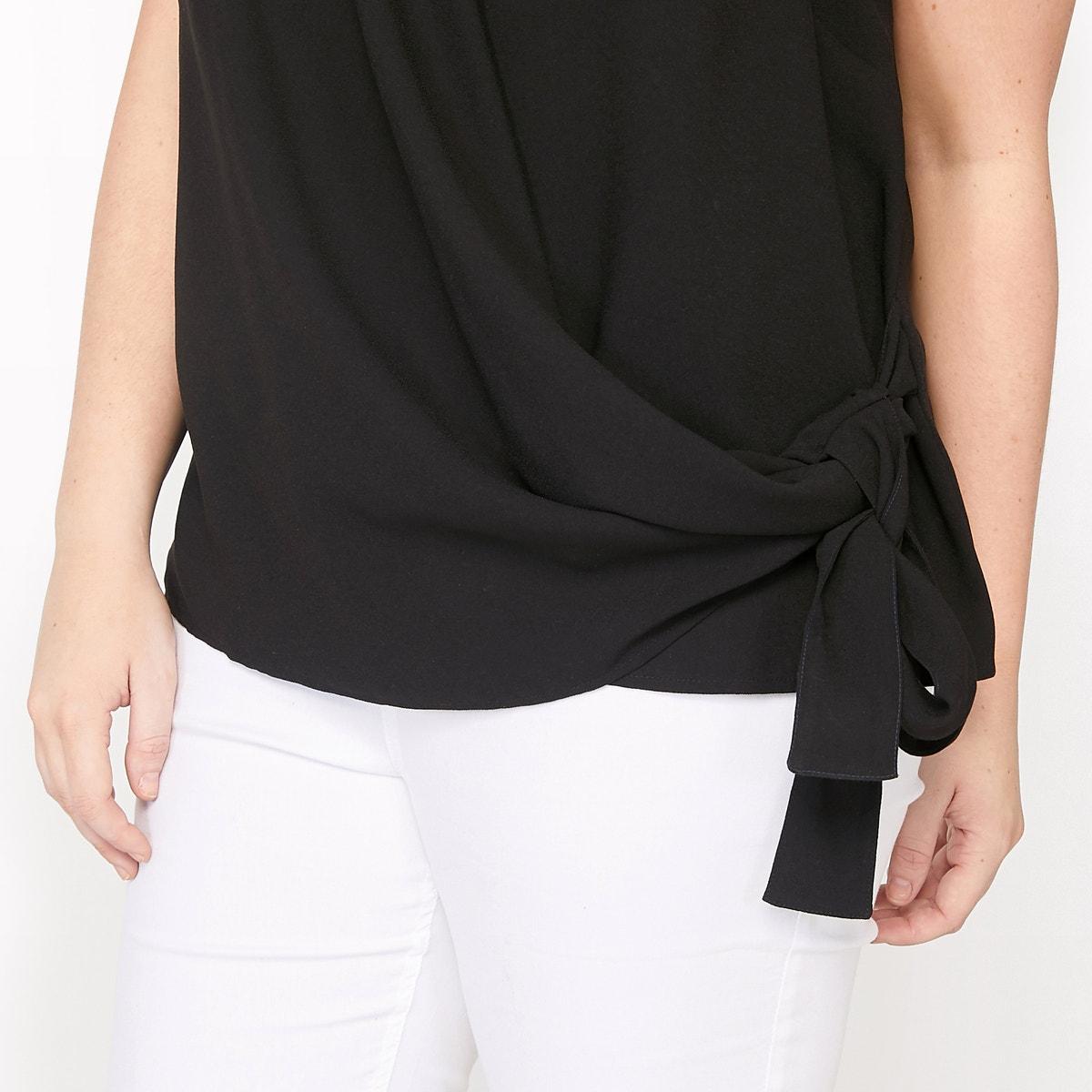 Castaluna-Womens-Sleeveless-Blouse-With-Tie-Panel