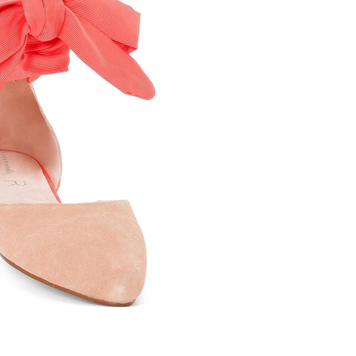 La ROToute Damenschuhe Leder With Pointed Toe Ballet Pumps With Leder Ankle Ties 24bae7