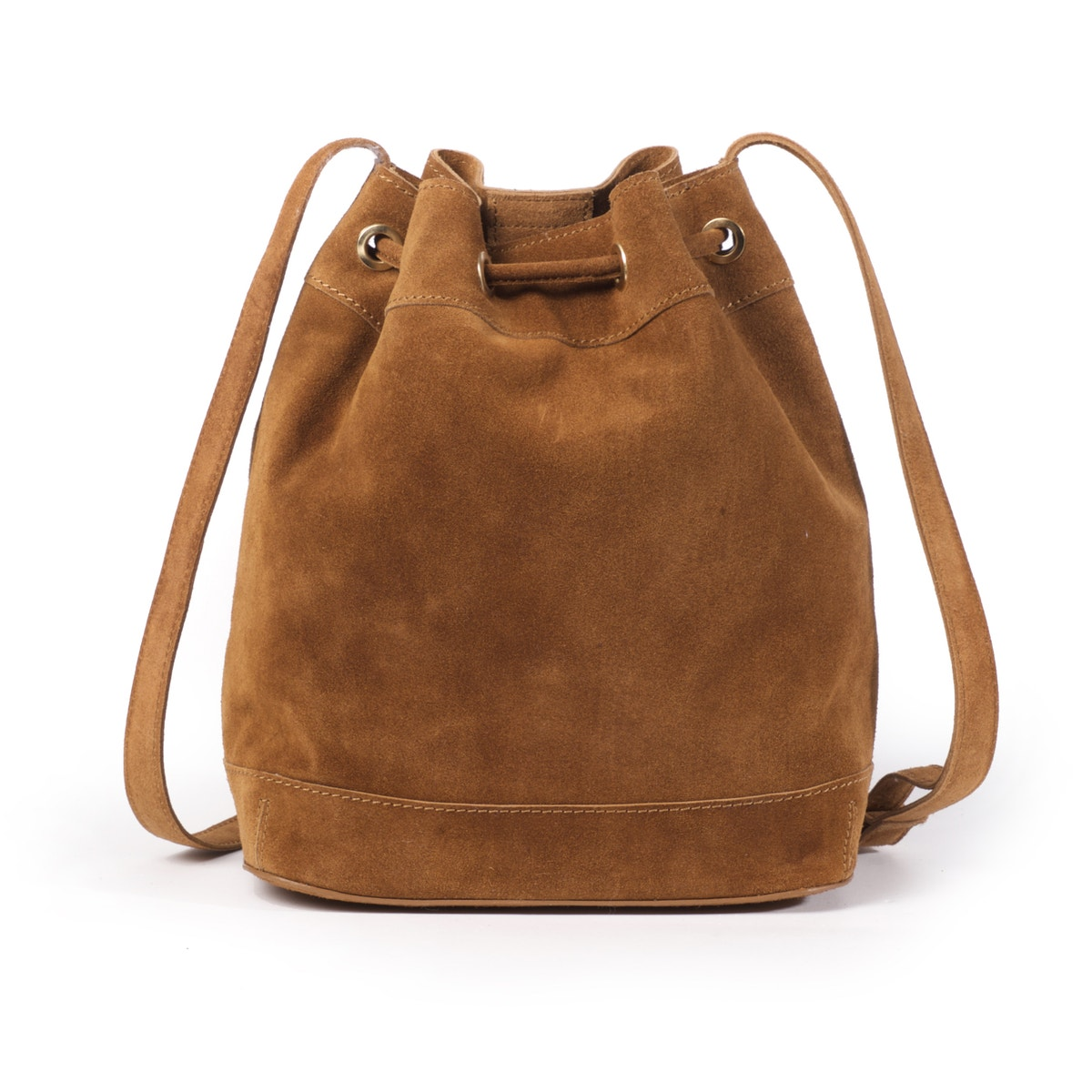 La-Redoute-Collections-Womens-Suede-Bucket-Bag-With-Tribal-Motif