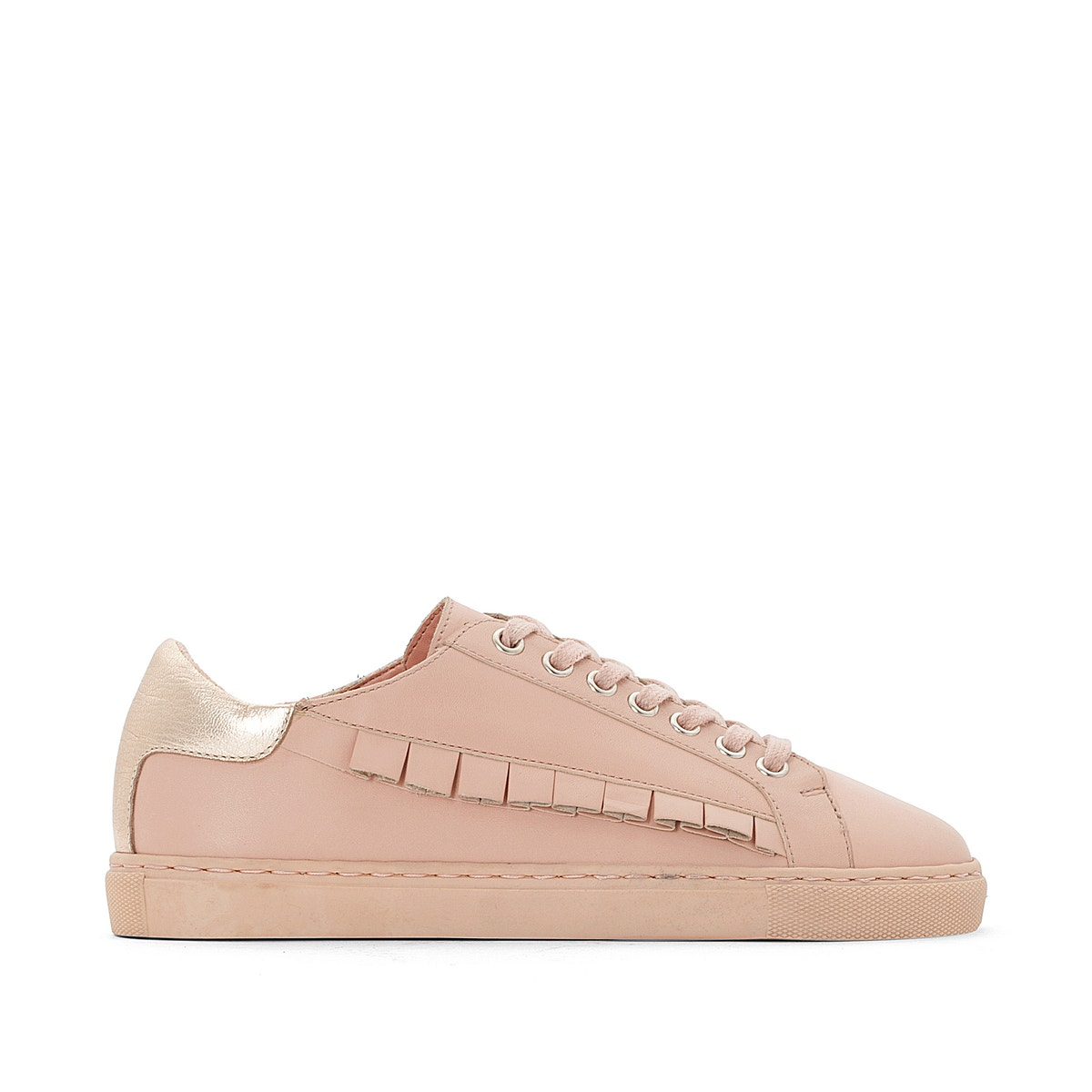 La With ROToute Damenschuhe Leder Trainers With La Ruffles 349f36