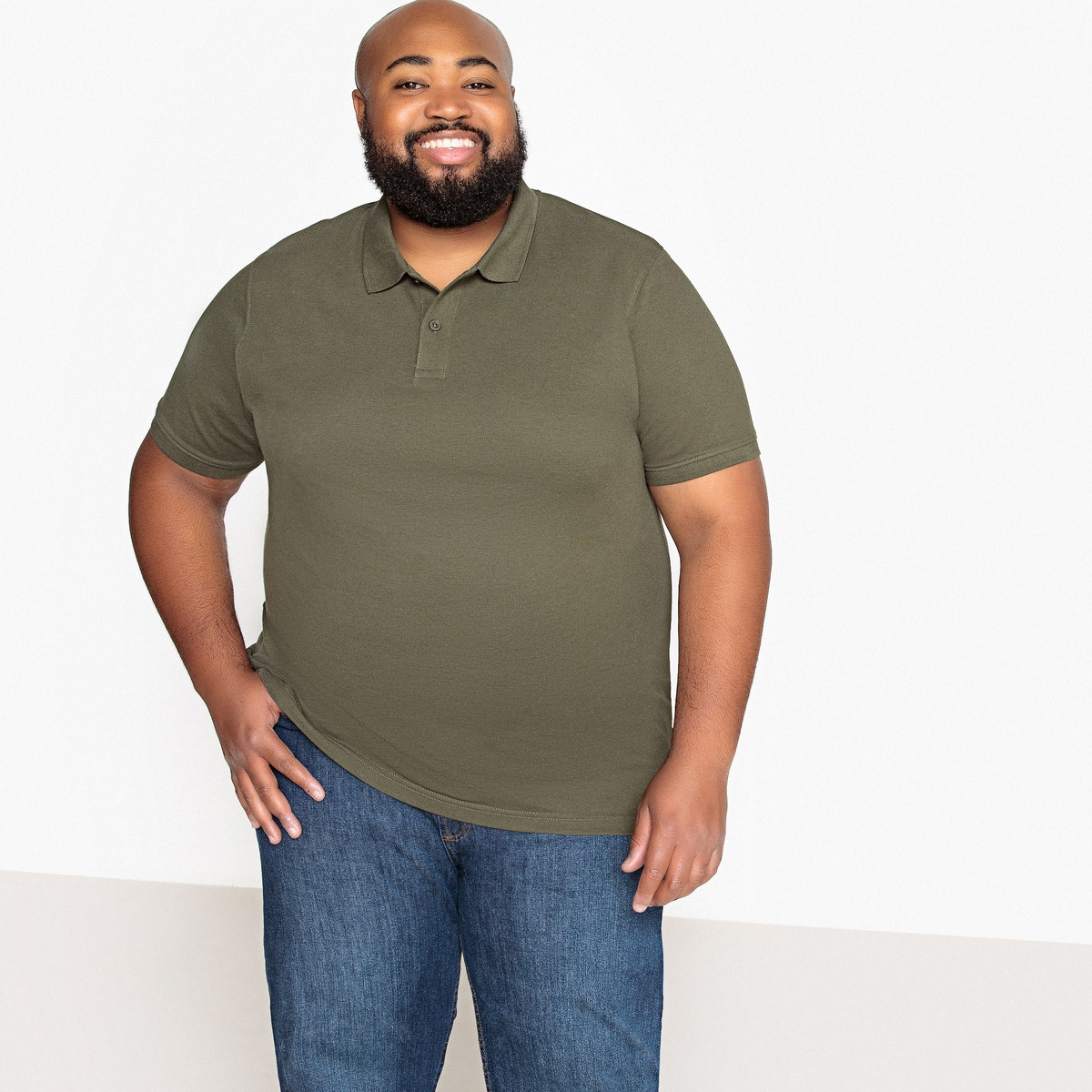 Castaluna For Men Mens Short-Sleeved Polo Shirt Plus Size 350121630