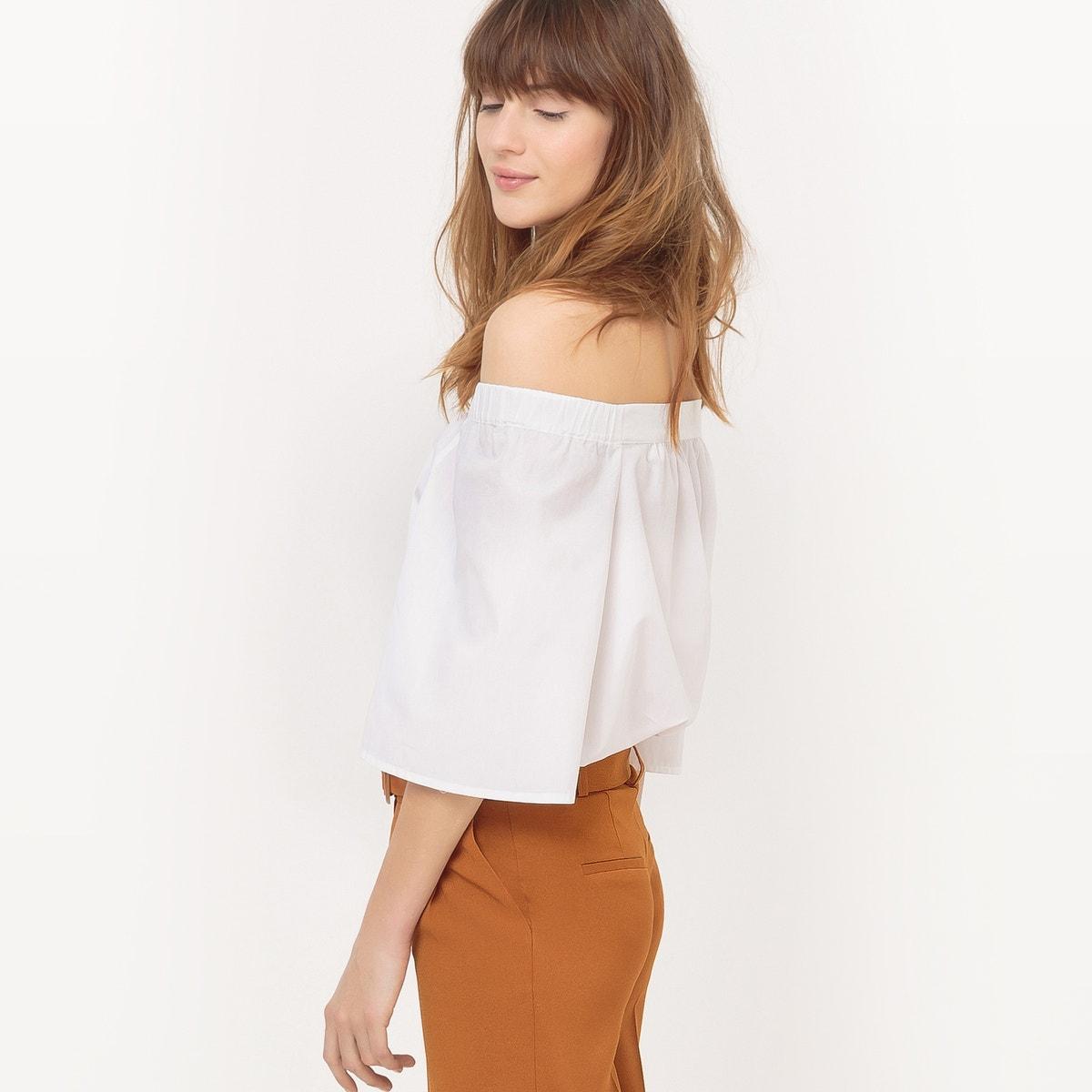 La-Redoute-Collections-Womens-Cotton-Off-The-Shoulder-Blouse