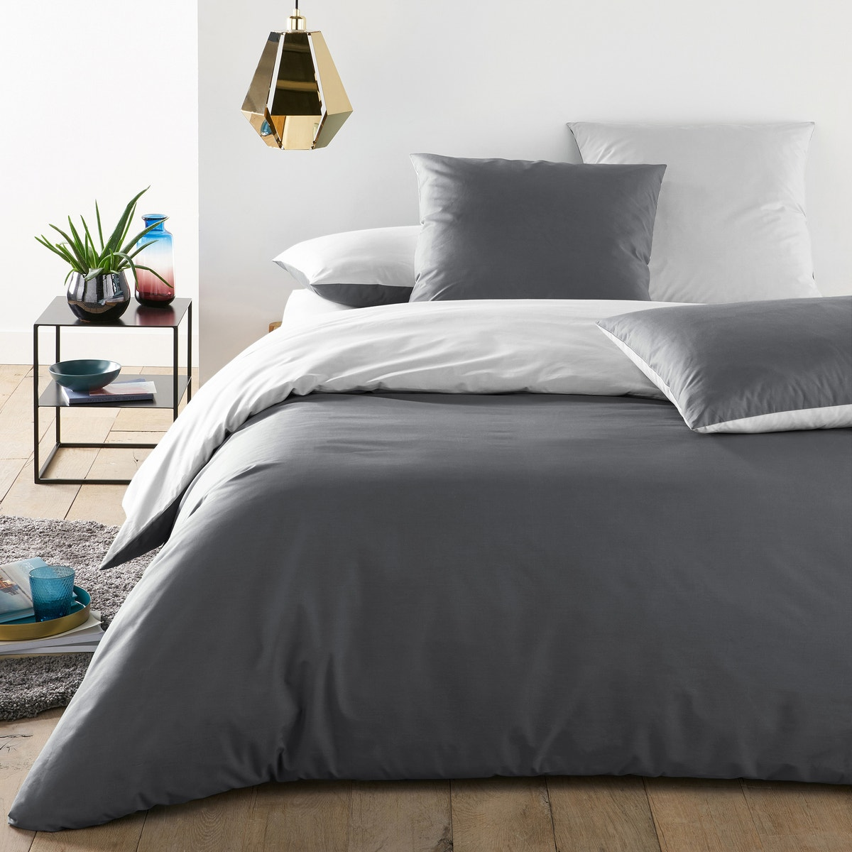 Boys And Girls Two-Tone Cotton Percale Duvet Cover