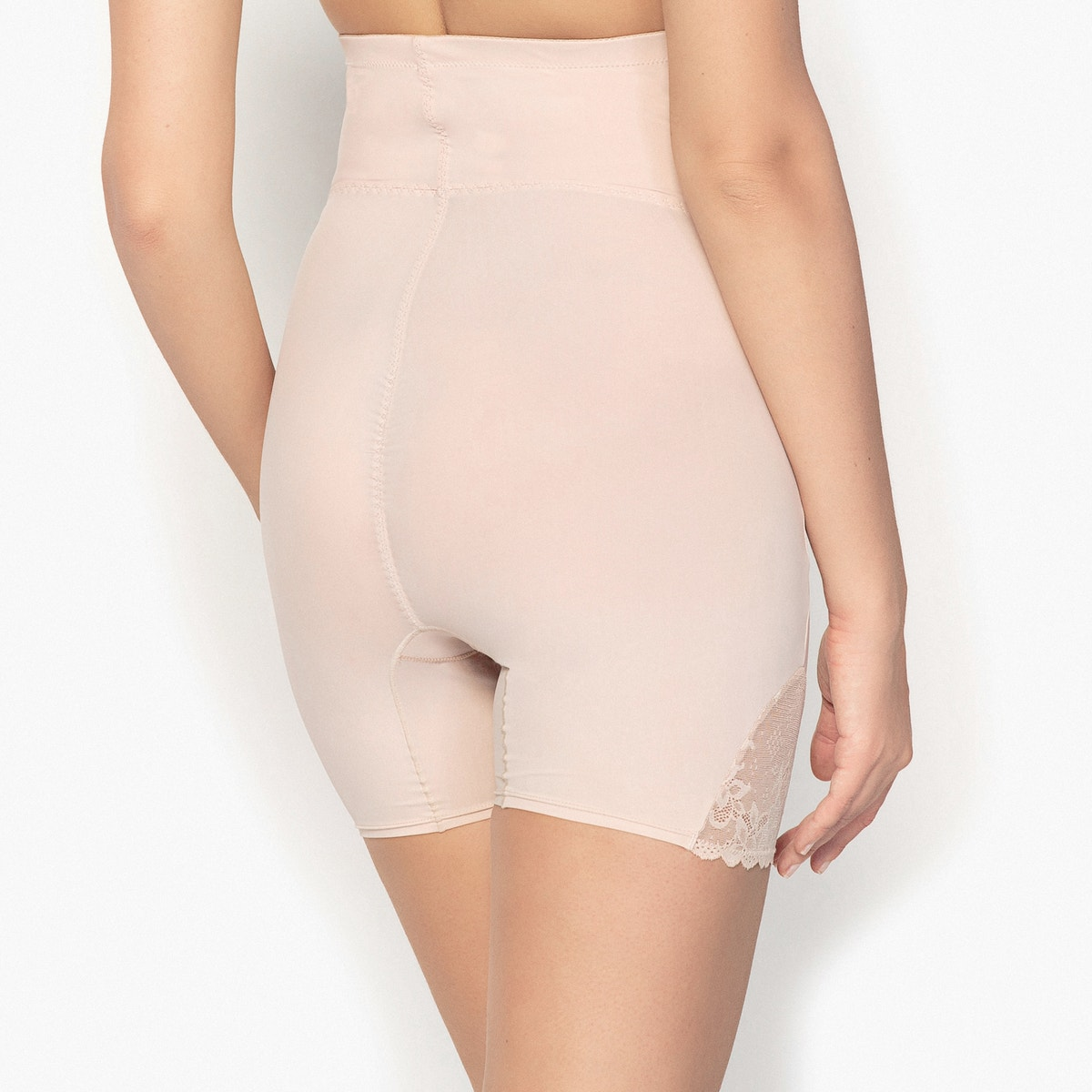 La-Redoute-Collections-Donna-Panty-Modellante-In-Microfibra-E-Pizzo