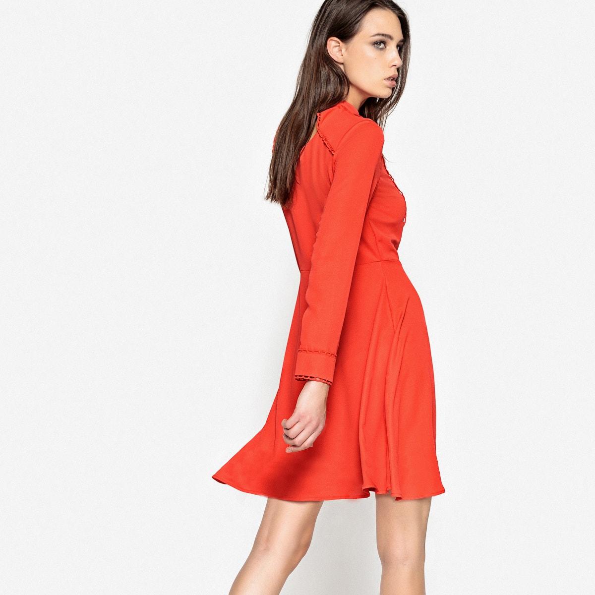 Kleid Frau R Mademoiselle Mit Am Kragen Schleife w1ES5Sq