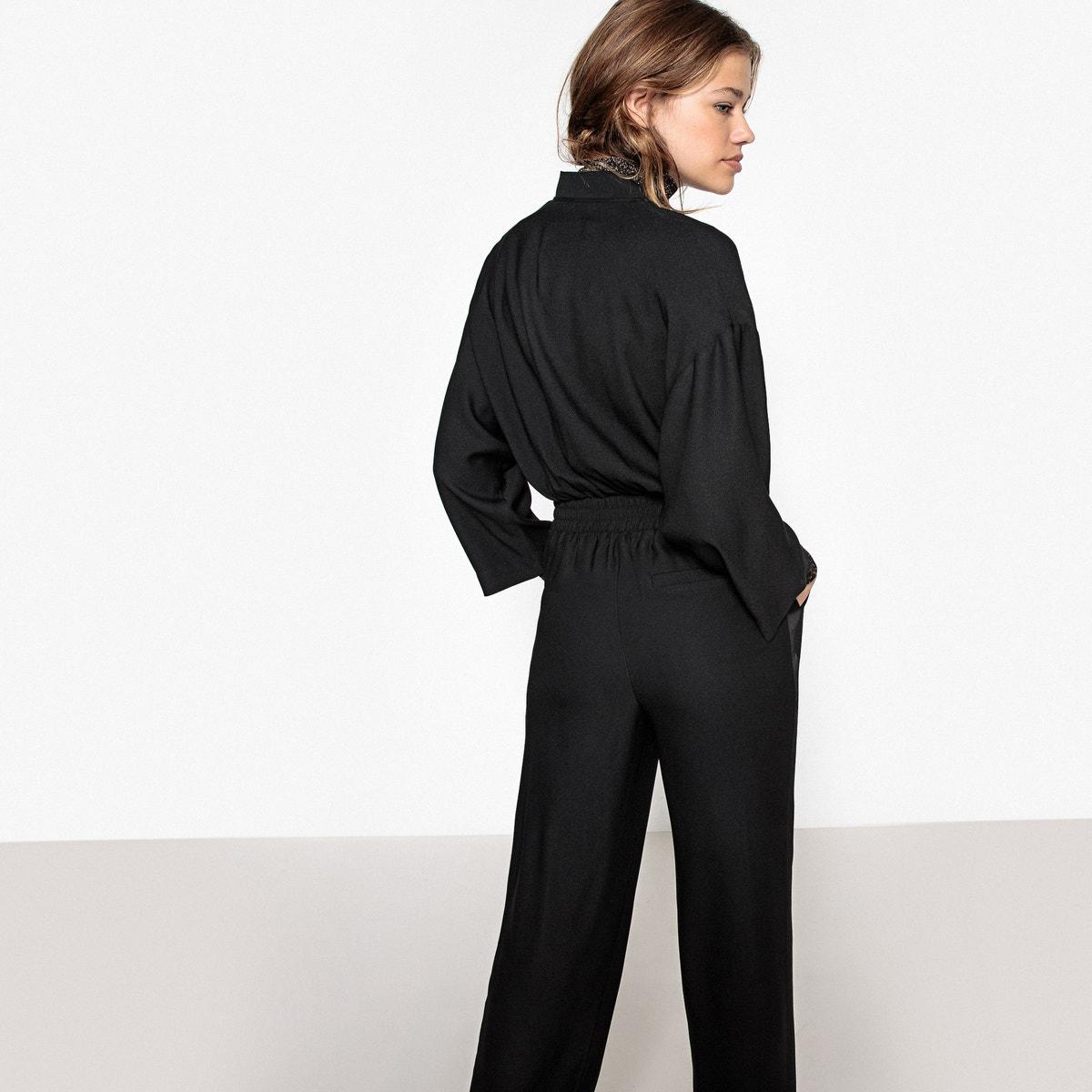 4f9edbf2d2e1 La Redoute Collections Womens Wide-Leg Zipped Jumpsuit 350080816