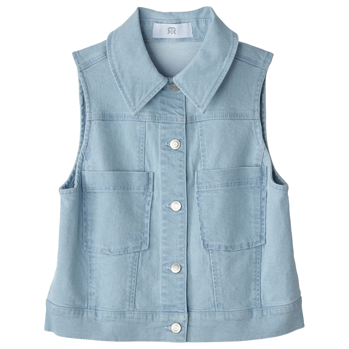 edacb1a035e363 La Redoute Collections Womens Sleeveless Denim Jacket