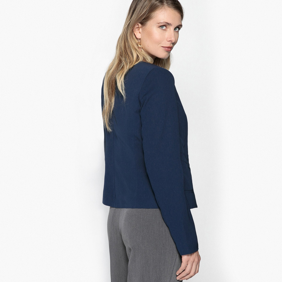 La Redoute Womens Fitted Short Blazer Blazer Blazer b78d86
