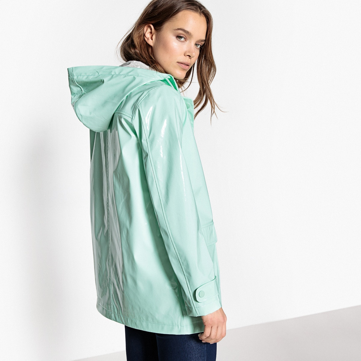 Hooded Dame Raincoat Redoute Waxed La qOXwt6xx