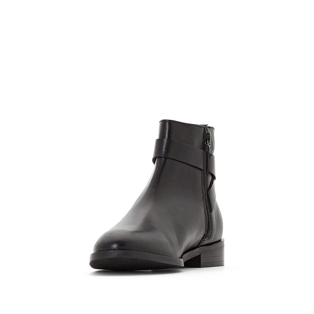 La Redoute Collections Collections Collections Womens Leather Ankle Boots With Buckle 6ea85f