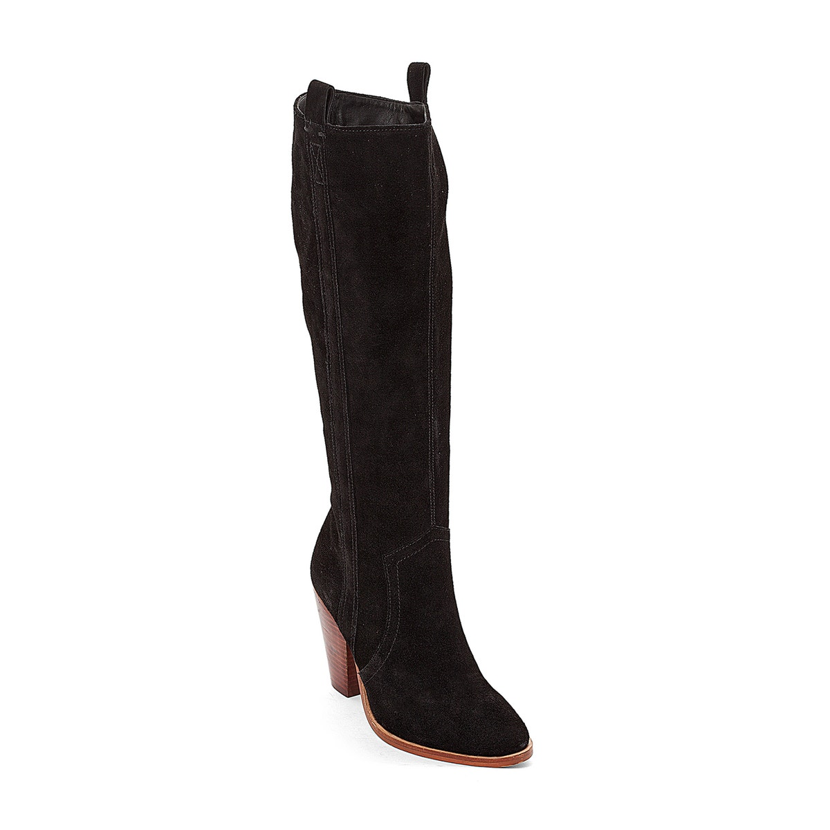 785585aa817 La-Redoute-Collections-Womens-Leather-High-Heeled-Boots thumbnail