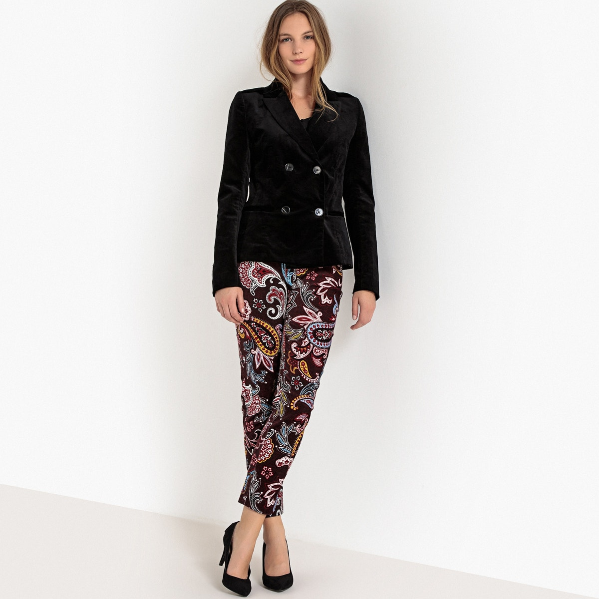 Velvet Womens Blazer Collections Double La breasted Redoute fX6fxv