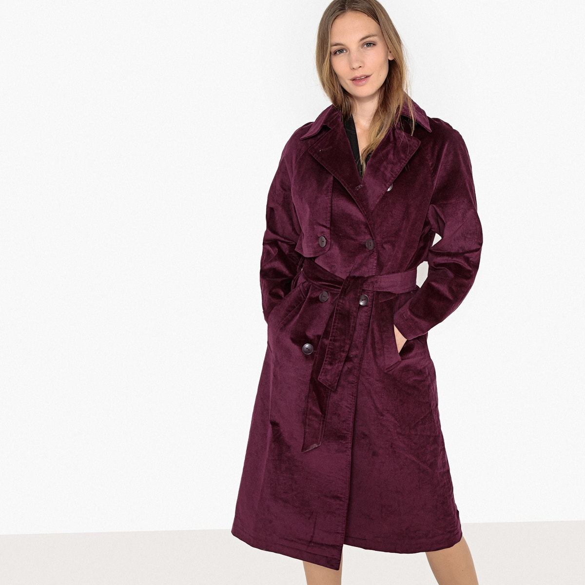 wholesale dealer exclusive range agreatvarietyofmodels Details about La Redoute Collections Womens Long Corduroy Trench Coat