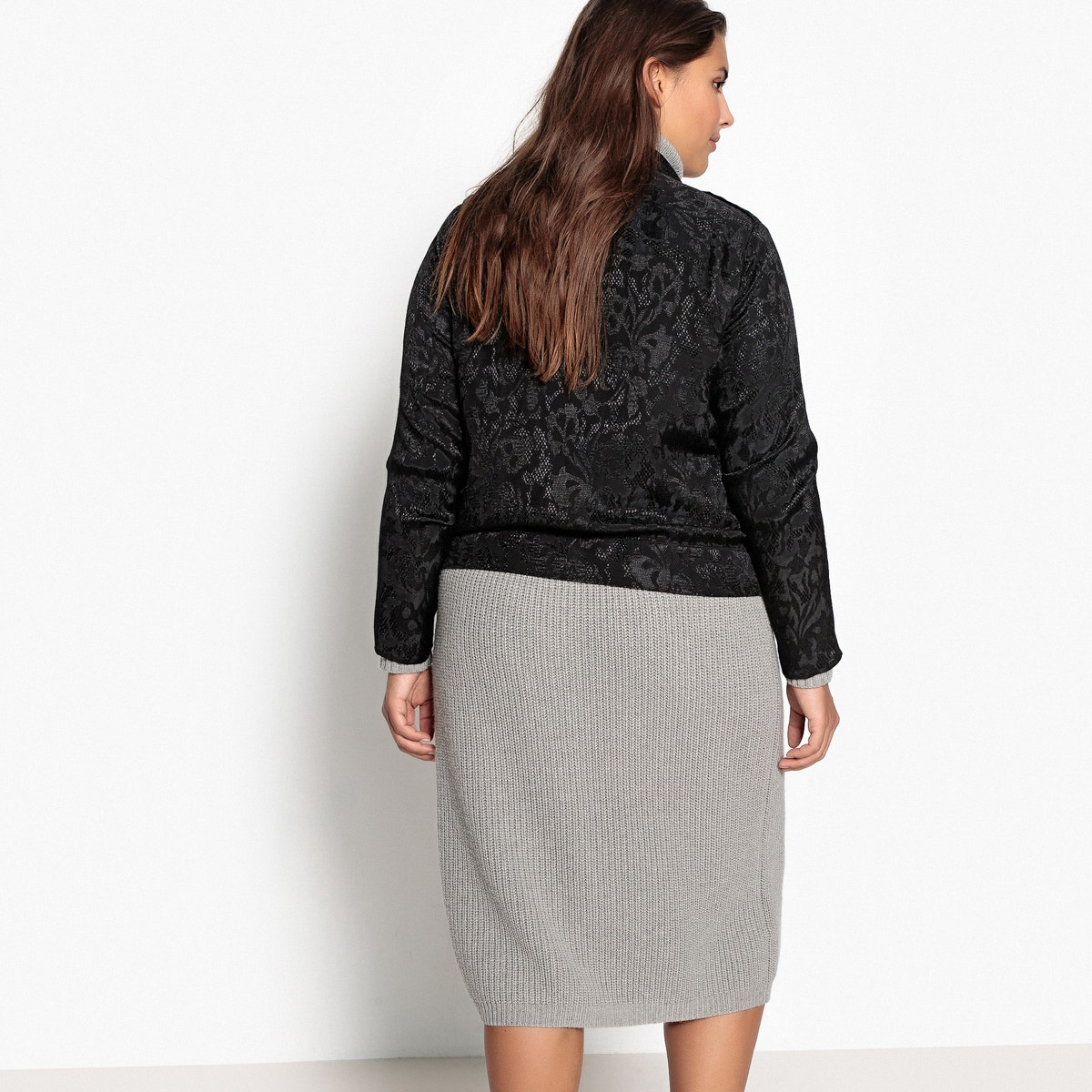 Castaluna Floral Tie Womens waist Jacket Jacquard grCg0q