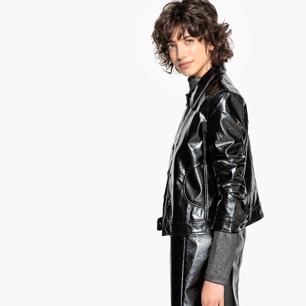 Redoute Vinyl Leather Jacket Faux La Womens Rvwdq0vc
