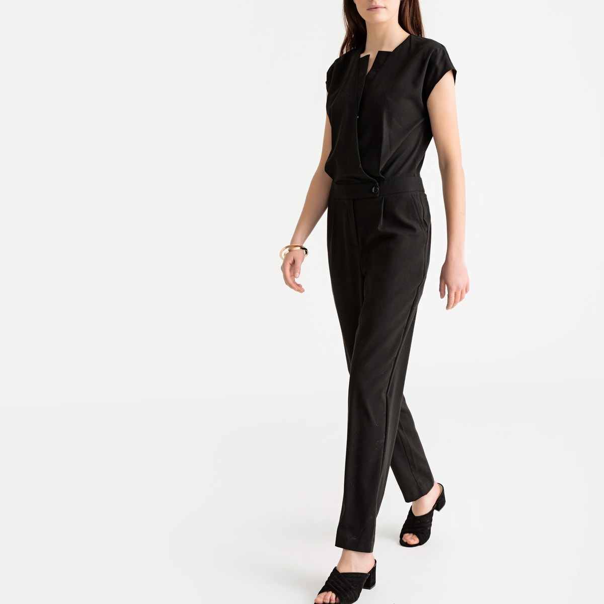 4add0a46377 La Redoute Collections Womens Wrapover Jumpsuit
