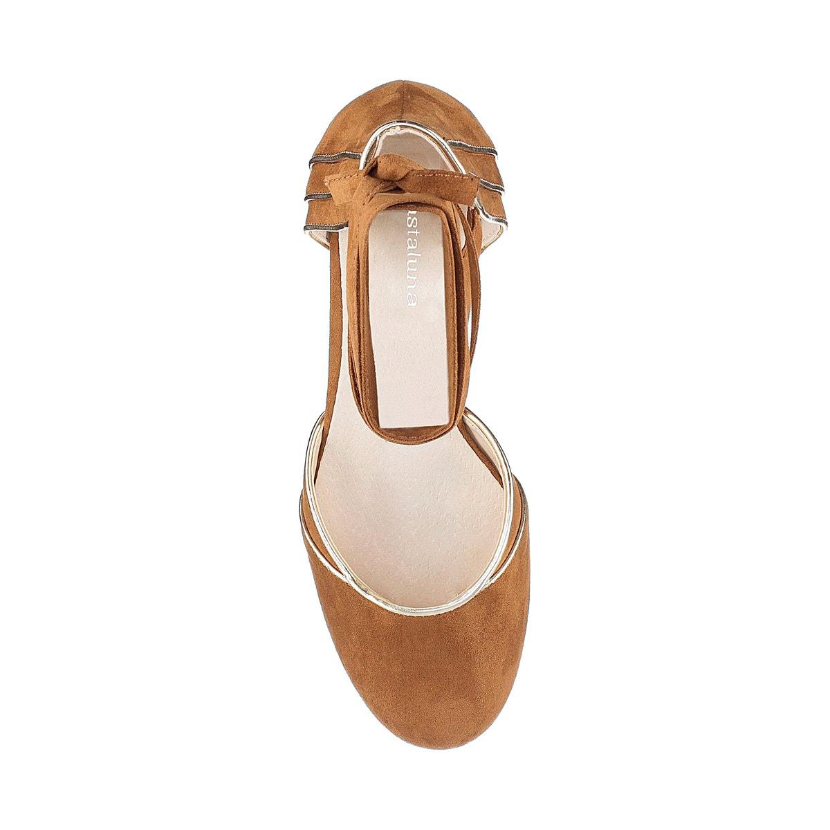 70feee9ca6ce Castaluna Womens Wide Fit Tie Leg Heeled Ballet Pumps