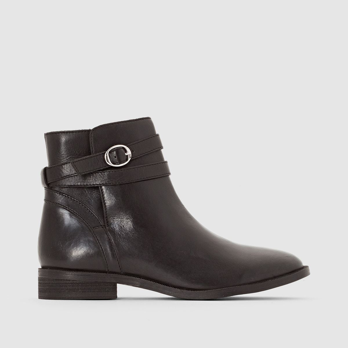 La Ankle ROToute Collections Damenschuhe Leder Ankle La Stiefel With Buckled Strap a8a533