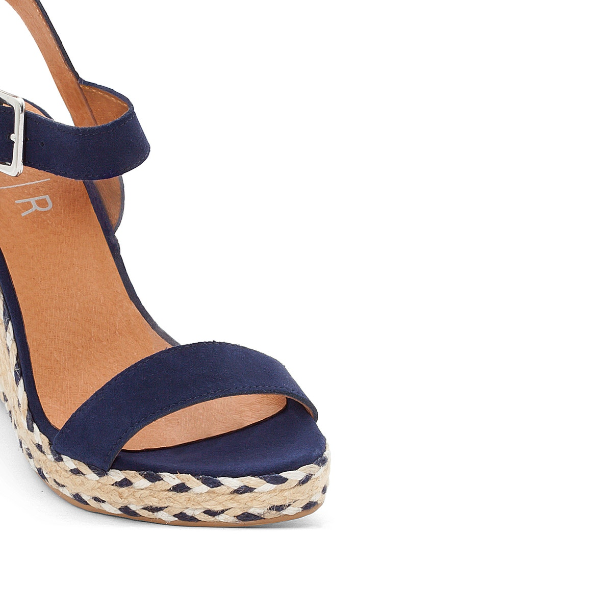 La-Redoute-Collections-Womens-Wedge-Heel-Sandals-With-Twotone-Rope